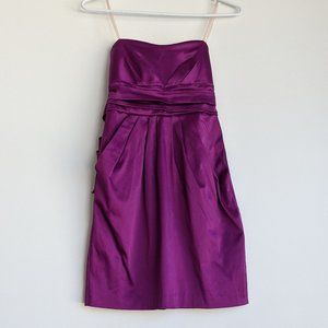 Wishes Wishes Wishes Strapless Dress Purple Size 3